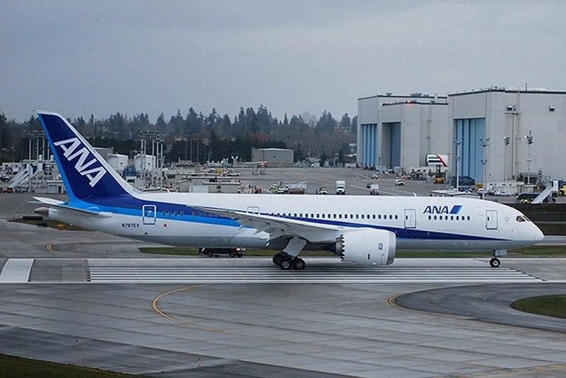 All Nippon Airways Boeing 787 Dreamliner two