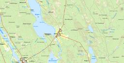 Den af Det Statistiske Centralbureau afgrænsede småbyen Alsån, med grænserne fra småbyafgrænsningen 2010.