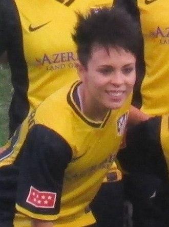 Amanda Sampedro - With Atlético Madrid in 2013