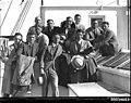 American baseballers gathered at a Movietone event on board SS SIERRA (7606557016).jpg