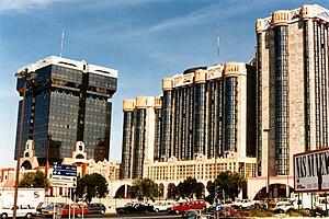 Tomás Taveira - Amoreiras Towers (Torres das Amoreiras), Lisbon - south view.