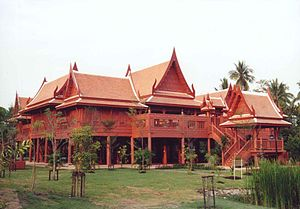 Traditional Thai house - The traditional Thai house at King Rama II Memorial Park