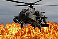 An AH-64D Longbow Apache helicopter lands during a combined arms demonstration as part of South Carolina National Guard Air & Ground Expo.jpg