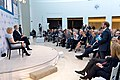 """An Audience Member Asks Secretary Kerry a Question at USIP's """"Passing the Baton 2017- America's Role in the World"""" Event (32192030056).jpg"""
