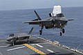 An F-35B Lightning II prepares to land aboard USS Wasp. (40784784864).jpg