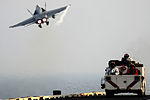 An FA-18C launches from USS John C. Stennis..jpg