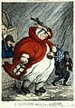 An obese midwife on her way to a labour in the early hours o Wellcome M0011104.jpg