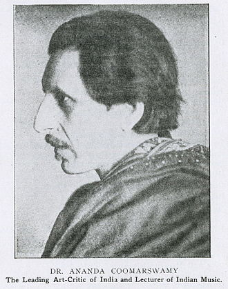Ananda Coomaraswamy - Portrait of Coomaraswamy printed in the April 1916 issue of The Hindusthanee Student