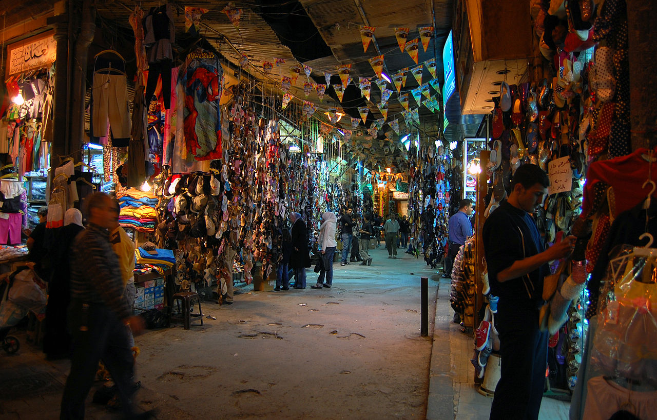 File Ancient Covered Souq Aleppo Syria Jpg Wikimedia