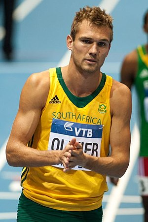 2014 IAAF World Indoor Championships – Men's 800 metres - Andre Olivier finished fourth in the final