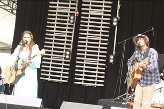 Angus & Julia Stone - Performing at Falls Festival, Marion Bay, Tasmania, December 2007