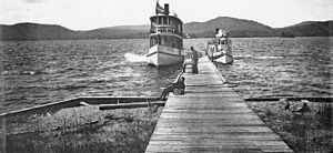 Fulton Chain of Lakes - Fourth Lake, 1894