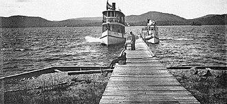 Fulton Chain of Lakes - Fourth Lake, 1894