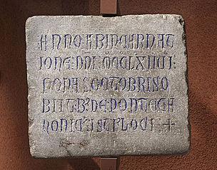 Épitaphe de Bernardus de Ponte