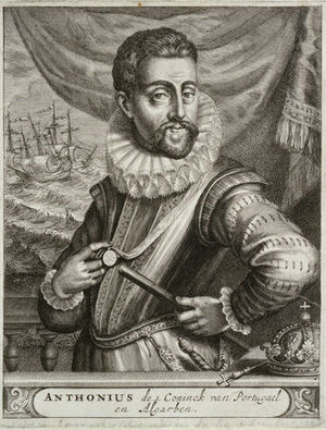 Conquest of the Azores - Dom António managed to escape from Terceira Island with some of his men.