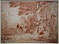 Antoine watteau, battuta di caccia coi cani, 1713 ca. (stadel).jpg