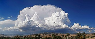 Thunderstorm - Anvil-shaped thundercloud in the mature stage