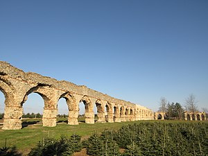 Aqueduct of the Gier - Vestiges of the Roman aqueduct in Chaponost