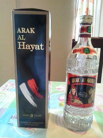 Arak (drink) - Image: Arak Al Hayat from Syria