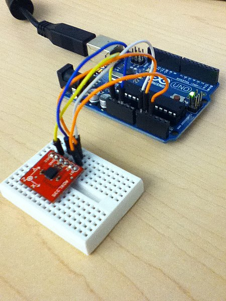 File arduino uno with adxl accelerometer g