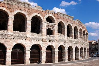 Piazza Bra - The Verona Arena in 2008