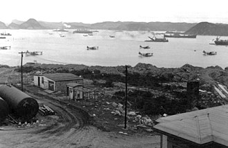 Naval Station Argentia - U.S. ships and aircraft in Little Placentia Sound, 1942.
