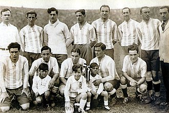 1929 South American Championship - The Argentine team, winner of the tournament.