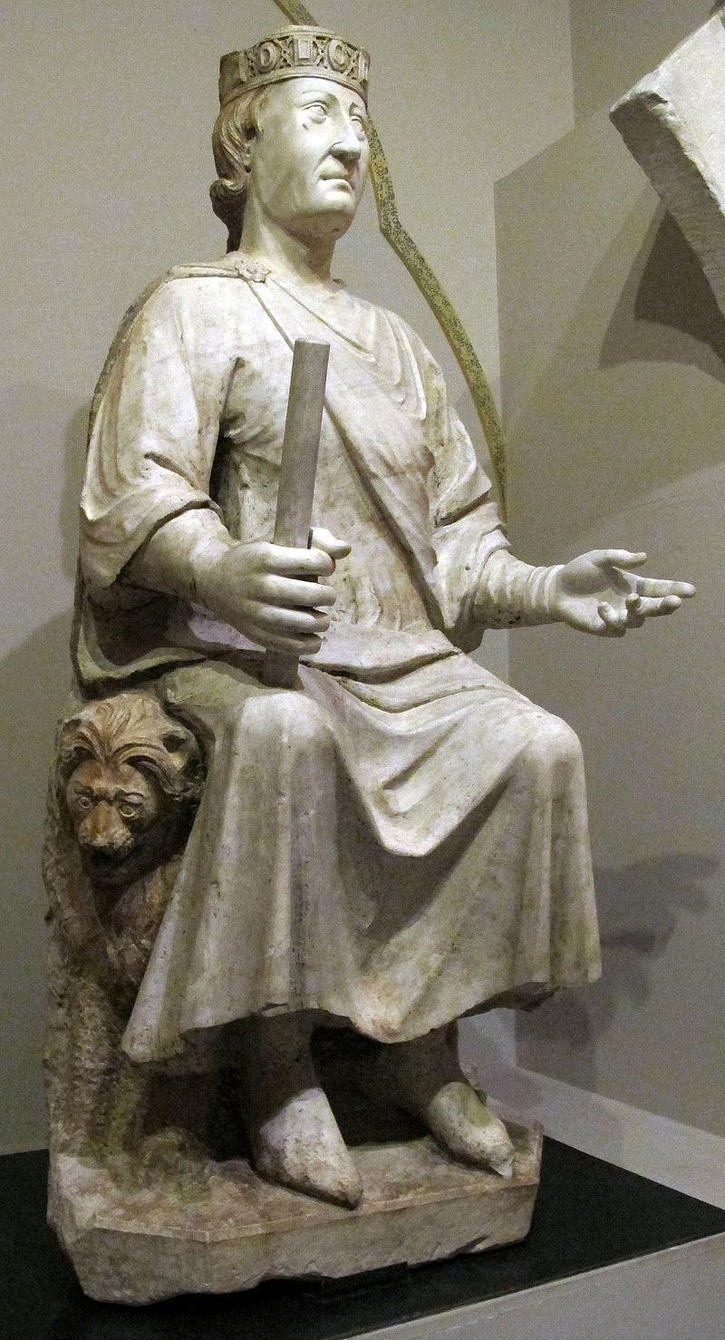 Arnolfo di cambio, monumento a carlo I d%27angi%C3%B2, 1277 ca. 05.JPG