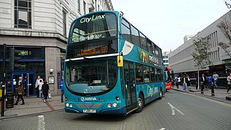 Arriva Midlands - Wright Eclipse Gemini bodied Volvo B9TL in Birmingham in September 2010