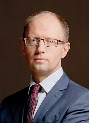 Ukrainian parliamentary election, 2014 - Image: Arseniy Yatsenyuk 2011 (cropped)