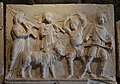 Artemis frieze from the scaenae frons of the Roman theatre, procession held in honour of Artemis, Hierapolis Archaeological Museum, Turkey (17048459129).jpg
