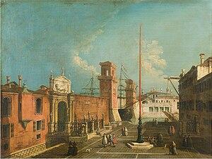 Francesco Albotto - Veduta del campo e delle porte dell'Arsenale, 1743–1746 (Fondazione Cariplo)