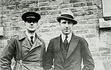Brown (left) with John Alcock in 1919 Arthur Whitten Brown and John Alcock in 1919.jpg