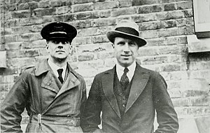 John Alcock (RAF officer) - Image: Arthur Whitten Brown and John Alcock in 1919