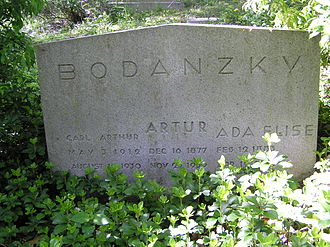 Artur Bodanzky - The gravesite of Artur Bodanzky in Sleepy Hollow Cemetery, Sleepy Hollow, NY