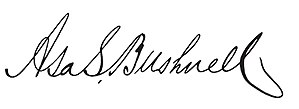Asa S. Bushnell (governor) - Image: Asa S. Bushnell (Governor) signature