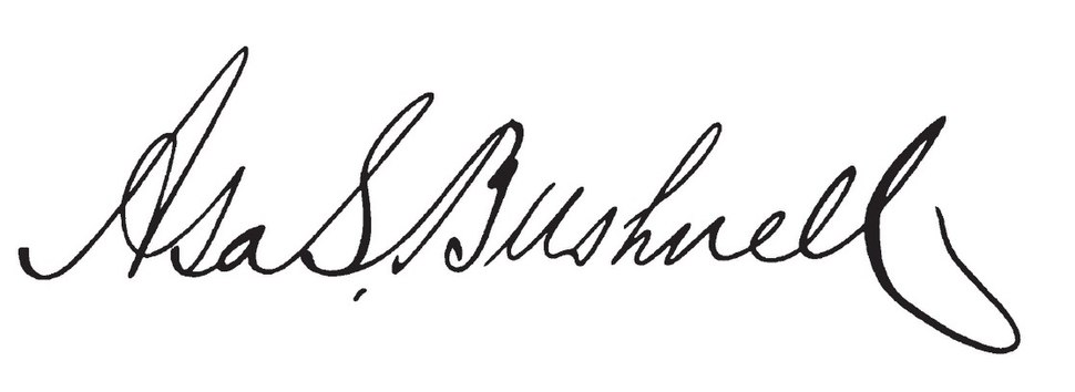 Asa S. Bushnell (governor)'s signature