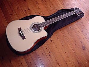 Ashton Music - Ashton Acoustic Bass Guitar with built-in pickup, tuner, and DI unit