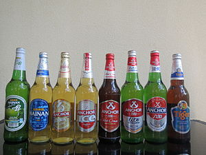 Asia Pacific Brewery product range Hainan China August 2014.JPG