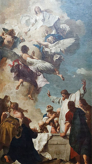 Giovanni Battista Piazzetta - The Assumption of Mary (1735), oil on canvas. In the collection of the Louvre