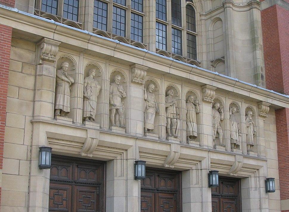 Aston Webb Building Entrance Statues University of Birmingham