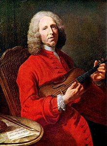 Жан-Филипп Рамо со скрипкой, портрет работы Жака-Андре-Жозефа Аве