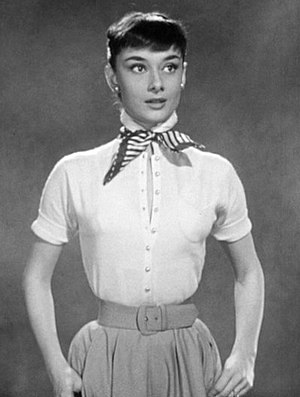 Audrey Hepburn - Hepburn in a screen test for Roman Holiday (1953) which was also used as promotional material