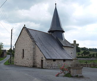 Augne - The church of Saint-Pierre, in Augne