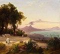 August Ahlborn - Bucht von Neapel mit Blick auf den Vesuv (1836).jpg