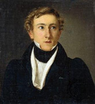 August Bournonville - Portrait of Bournonville by Louis Aumont (1828)