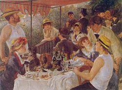 El almuerzo de los remeros. Óleo. 1881, Washington, Colección Phillips.