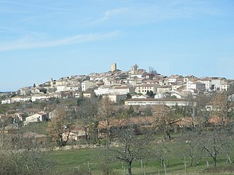 Aurignac - A general view of Aurignac