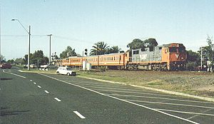 Public Transport Corporation - V/Line branded train in 1993