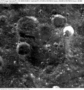Avicenna (crater) - Clementine mosaic